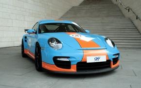 Картинка тюнинг, купе, 911, Porsche, лестница, ступеньки, спорткар, поручень, порше, coupe, tuning 9ff