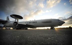 Обои разведчик, E-3, AWACS, наблюдатель, Recon