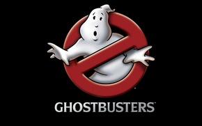 Обои ghostbusters, Охотники за привидениями, логотип
