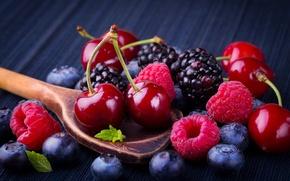 Картинка ягоды, малина, черника, fresh, черешня, ежевика, berries