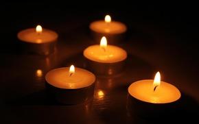 Картинка темно, свечи, огоньки