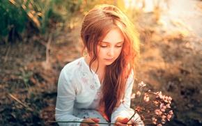 Картинка девочка, солнечный свет, Serg Piltnik