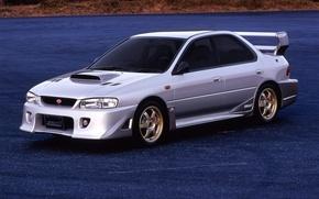 Обои S201, STI, машина, субару, импреза, Subaru, Impreza