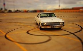 Обои chrysler, valiant, авто, ретро, машина, белый
