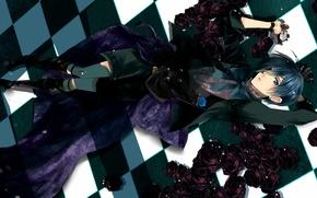 Картинка арт, парень, Сиэль, Тёмный дворецкий, Kuroshitsuji, Ciel Phantomhive