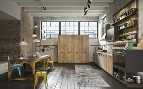 Картинка design, modern, interior, home, kitchen, loft style