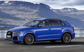 Картинка Audi, Авто, Синий, Машина, Car, 2016, Amplified