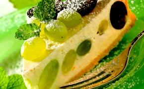 Обои торт, food, cake, десерт, dessert, чизкейк, fruits, сладкое, cheesecake, винограда, фрукты, еда, пирожное, grape