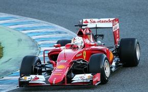 Картинка Ferrari, Formula 1, Vettel, 2015, Tests, SF15T