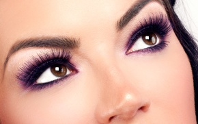 Обои brunette, eyes, woman