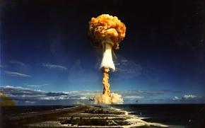 Обои взрыв, ядерный, гриб