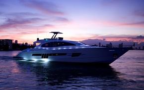 Картинка море, вечер, яхта, luxury motor yacht