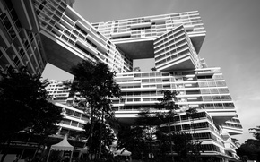 Картинка island, Singapore, black and white, building, Asia, sovereign, b/w, outstanding, Southeast Asia, Republic of Singapore, ...