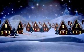 Картинка зима, снег, природа, новый год, рождество