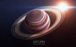 Картинка Saturn, ring, planet, solar system