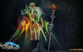 Картинка магия, игра, маг, посох, колдун, Runes of magic, mana