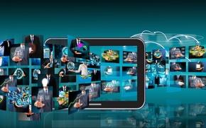 Картинка tablet, mobile, programs, apps