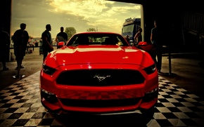 Картинка hdr, red, ford, MUSTANG
