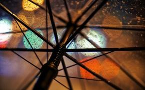 Картинка макро, прозрачный, дождь, зонт