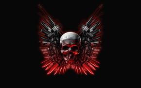 Обои оружие, The Expendables, череп