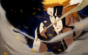 Картинка battlefield, game, Bleach, anime, power, Kurosaki Ichigo, warrior, manga, japanese, oriental, powerful, strong, muscular, shinigami, …