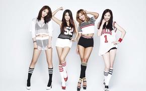 Обои музыка, девушки, legs, азиатки, body, Sistar, K-pop, Южная корея