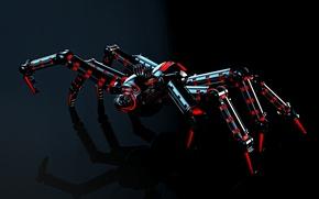 Картинка свет, отражение, механизм, робот, паук