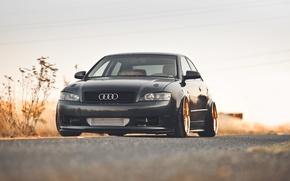 Картинка дорога, машина, авто, Audi, Audi A4