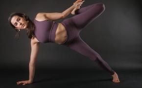 Картинка девушка, поза, фигура, упражнение