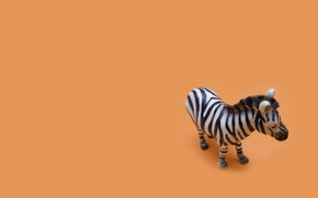 Картинка Минимализм, Белый, Игрушка, Оранжевый, Чёрный, Orange, Зебра, Black, White, Minimalism, Обои На Рабочий Стол, Zebra, …