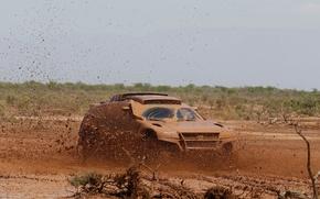Картинка Volkswagen, Грязь, Болото, Брызги, Touareg, Rally, Dakar, Внедорожник, Соревнования
