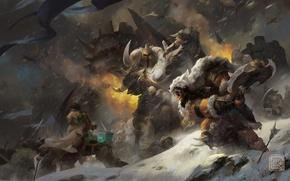 Картинка WoW, орк, warcraft, world of warcraft, Thrall, Warlords of Draenor, Go'el, Son of Durotan, Frostwolf …