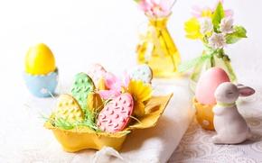 Картинка Кролик, Пасха, Яйца, Еда, Easter, Печенье, Выпечка