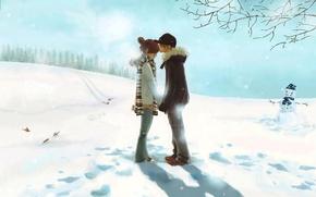 Картинка love, winter, couple
