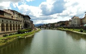 Картинка Италия, Флоренция, Italy, Florence, Italia, Firenze, Arno River, Арно