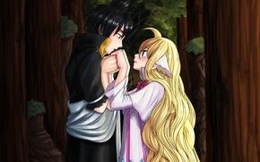 Картинка романтика, аниме, арт, пара, хвост феи, Fairy Tail