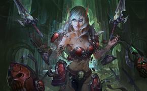 полуголая эльфийка  Ночные эльфы  Обои  Всё о Warcraft III