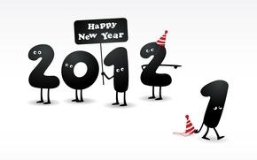 Обои глаза, новый год, цифры, ножки, 2012, число, happy new year, колпаки, 2 прогнала 1