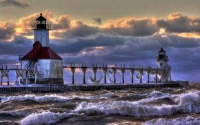Картинка lighthouse, lake michigan, St. Joseph