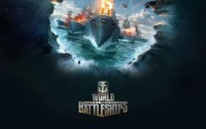 Картинка море, игра, корабль, game, World fo Battleships