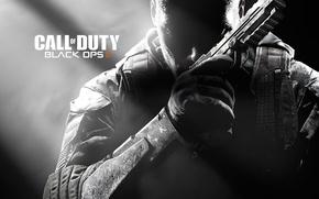 Картинка солдат, call of duty, оружее, cod, шутер, будущие, black ops 2