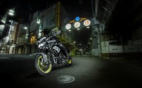 Картинка dark, side, Yamaha, moto, japan, night, naked, 2016, MT-10