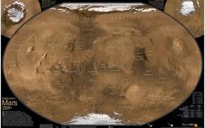 Обои Карта, Марс, Планета