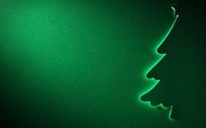 Картинка звезда, елка, новый год, текстура, силуэт, зеленое
