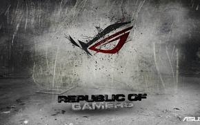 Картинка logo, asus, republic of gamers