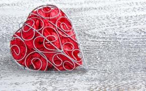 Картинка дерево, сердце, ткань, каркас