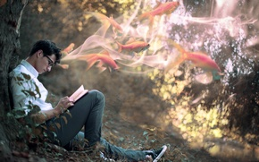 Картинка человек, ситуация, книга