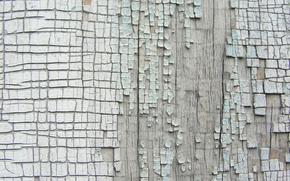 Картинка дерево, краска, кусочки, доска