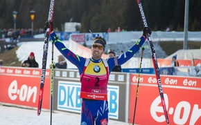Картинка победа, звезда, star, Martin Fourcade, Мартен Фуркад, биатлонист, biathlon