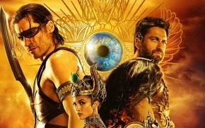 Картинка Gods, sky, desert, woman, war, cloud, Egypt, man, sand, Gerard Butler, blade, weapons, Set, God, …